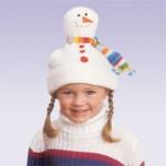 Шапочка-снеговик. Мастер-класс