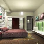 Спальня — современный интерьер