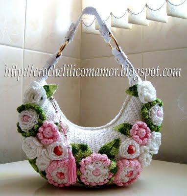 Теги. ссылка. сумки.  Вязаная сумка крючком со схемой мотивов. вязание.