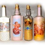 Бутылка для Святой воды. Декупаж