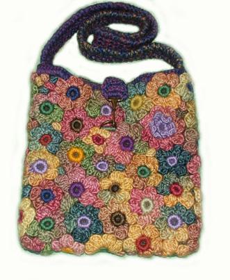 вязание крючком для девочек сумочки.