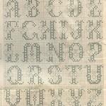 Алфавит с сердечками вышивка крестиком