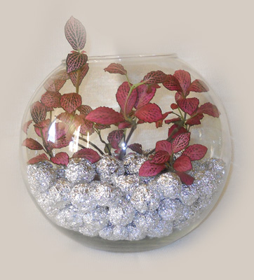 Комнатное растение в вазе. Мастер-класс