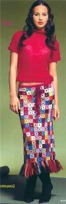 Вязанная одежда из квадратных мотивов