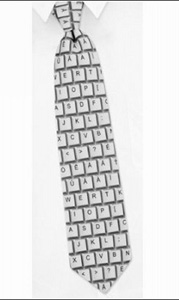 Галстук-клавиатура