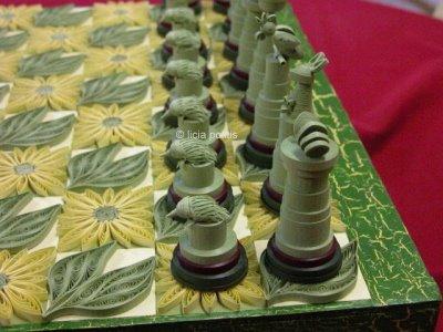 Шахматы в технике квиллинг
