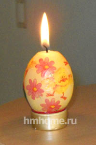 Декупаж по свечам