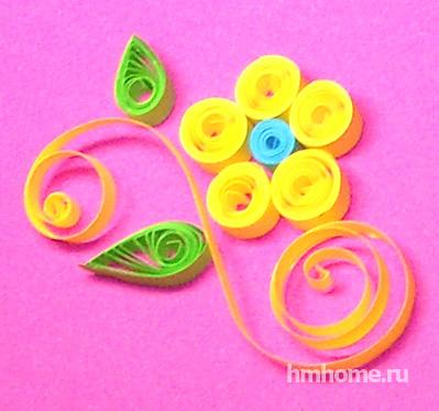 Цветы в технике квиллинг. Мастер-класс