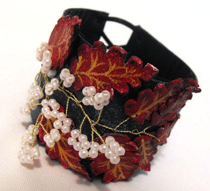 Мастерим цветы из кожи своими руками. из кожи своими руками, цветок из.