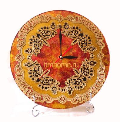 Часы в технике витражная роспись и золочение. Мастер-класс