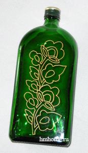 Роспись бутылок витражными красками