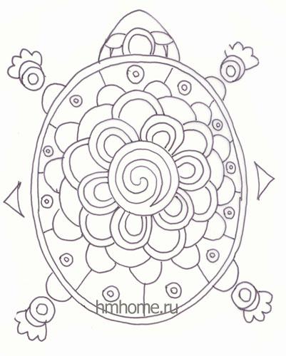 Рисунок для декоративной тарелки