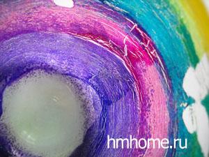 Роспись стекла витражными красками кракелюр
