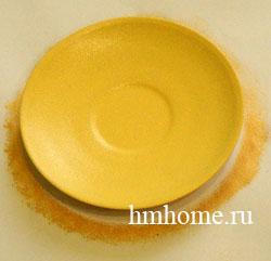 Декоративная тарелка расписанная акрилом