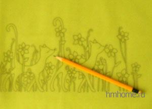 Холодный батик рисунки платок