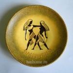 Декоративная тарелка со знаком зодиака Близнецы. Мастер-класс