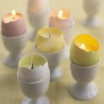 Свеча в яичной скорлупе