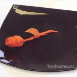 Бумажный цветок из салфетки