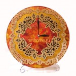 Часы витражная роспись золочение