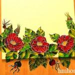 Ручная роспись зеркала витражными красками
