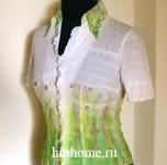 Роспись белой блузы