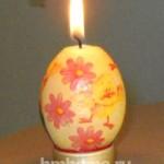 Декупаж по свечи