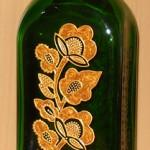 Витражная роспись бутылка запекаемыми красками