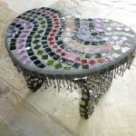 Табурет в технике мозаика