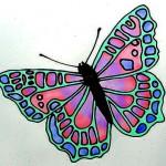 Трафареты бабочек для витражей