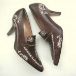 Обувь расписанная акрилом