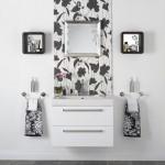 Ванная комната двух цветов