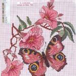 Бесплатные схемы  вышивки крестом - бабочки