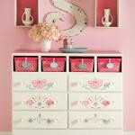Декорирование мебели цветочным трафаретом