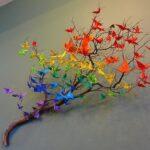 Аист в технике оригами — идеи для декорирования стен