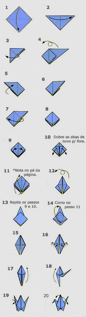 Инструкция по изготовлению аиста в технике оригами