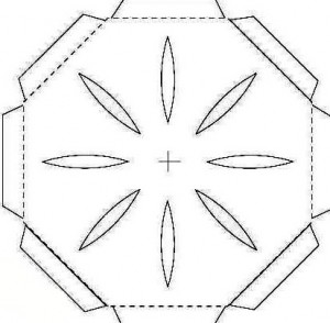 Шаблон крышки коробки