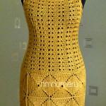 Платье и клатч  связанные крючком своими руками