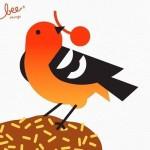 Рисунки птиц и бабочек