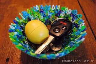 Декоративная тарелка из бусин