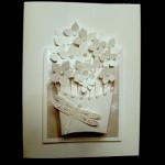 Открытка с корзиной цветов — мастер-класс