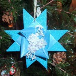 3D звезда для украшения ёлки
