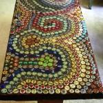 Мозаика крышками от бутылок