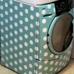 Трафаретная роспись стиральной машины
