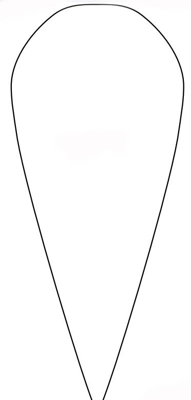 Схема маленького лепестка розы