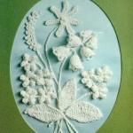 Открытки с вязаными цветами