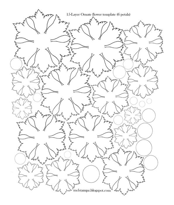 Шаблоны для бумажных цветов своими руками 462