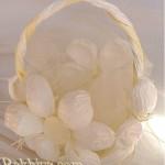 Корзинки с цветами из крученого шнура