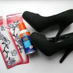 Преобразование старой обуви – «кружевной» декупаж