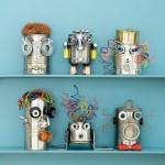 Роботы из металлических деталей