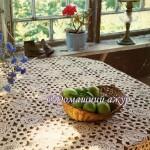 Скатерть из цветов вязаных крючком